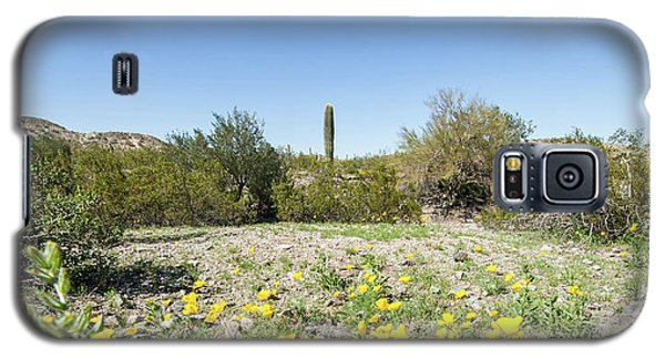 Galaxy S5 Case featuring the photograph Desert Flowers And Cactus by Ed Cilley