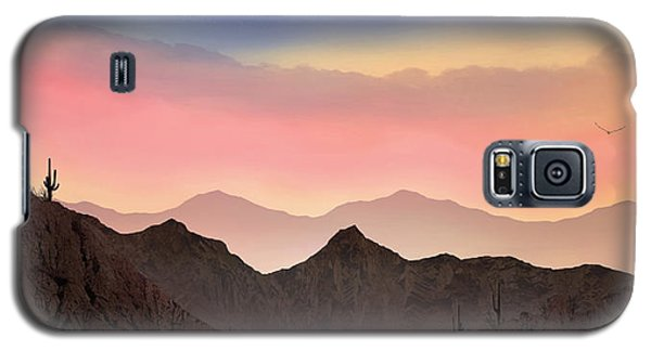 Galaxy S5 Case featuring the photograph Desert Landscape by Anthony Citro