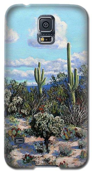 Galaxy S5 Case featuring the painting Desert Landscape by M Diane Bonaparte