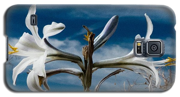 Galaxy S5 Case featuring the photograph Desert Lilly Close Up by Jeremy McKay