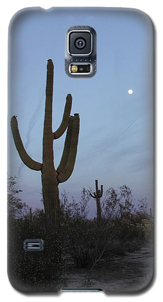 Galaxy S5 Case featuring the photograph Desert Moon by Nancy Taylor