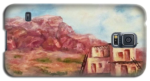Galaxy S5 Case featuring the painting Desert Pueblo by Roseann Gilmore