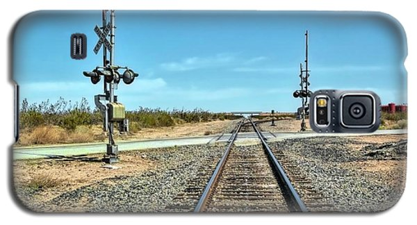 Desert Railway Crossing Galaxy S5 Case