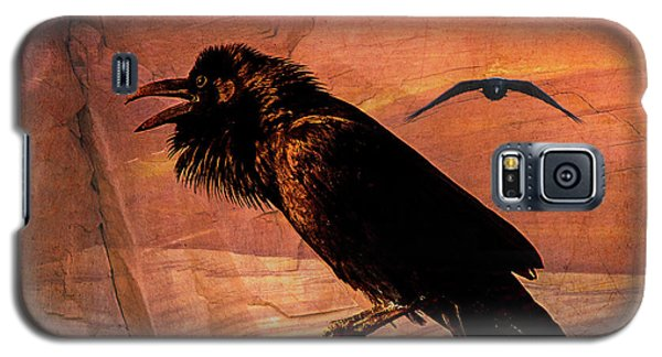 Galaxy S5 Case featuring the photograph Desert Raven by Mary Hone