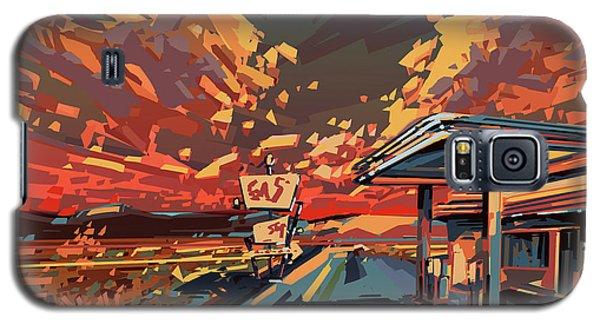 Desert Road Landscape 2 Galaxy S5 Case by Bekim Art