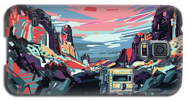 Desert Road Landscape Galaxy S5 Case by Bekim Art