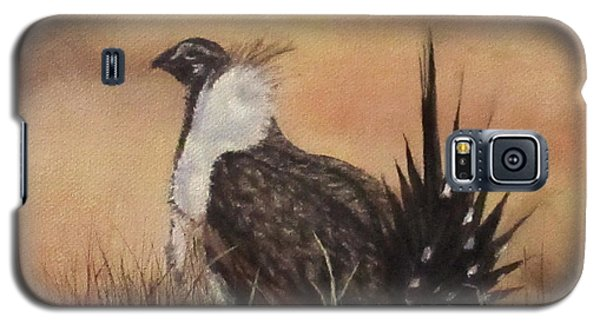 Galaxy S5 Case featuring the painting Desert Sage Grouse by Roseann Gilmore