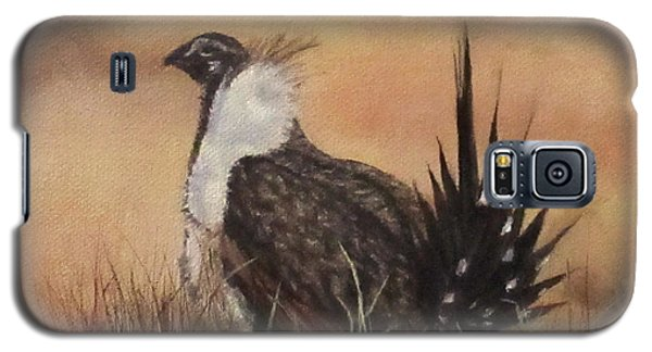 Desert Sage Grouse Galaxy S5 Case by Roseann Gilmore