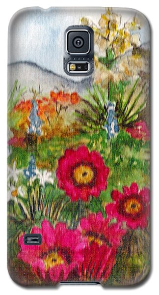 Galaxy S5 Case featuring the painting Desert Spring by Eric Samuelson