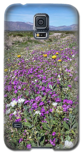 Galaxy S5 Case featuring the photograph Desert Super Bloom by Peter Tellone