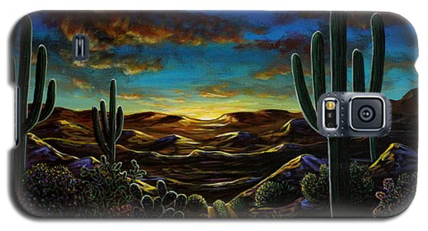 Galaxy S5 Case featuring the painting Desert Trail by Lance Headlee