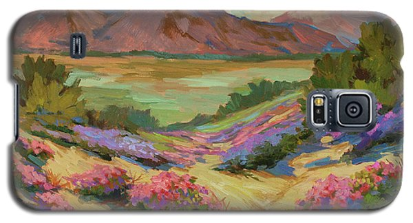 Desert Verbena At Borrego Springs Galaxy S5 Case by Diane McClary