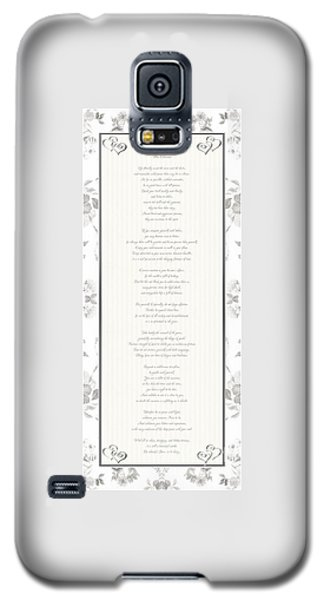 Desiderata In Silver Script By Max Ehrmann Galaxy S5 Case