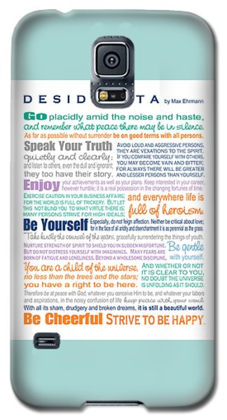 Desiderata - Multi-color - Rectangular Format Galaxy S5 Case