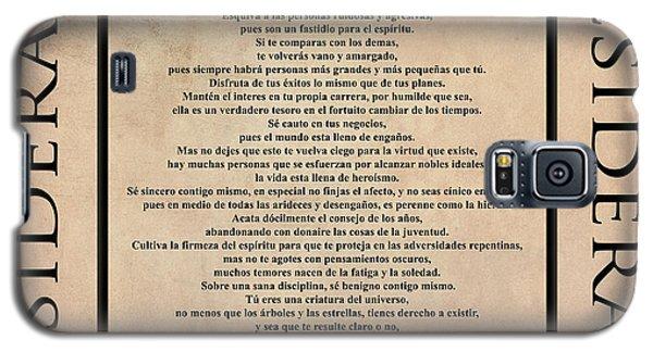 Desiderata - Spanish- Poema Escrito Por Max Ehrmann Galaxy S5 Case
