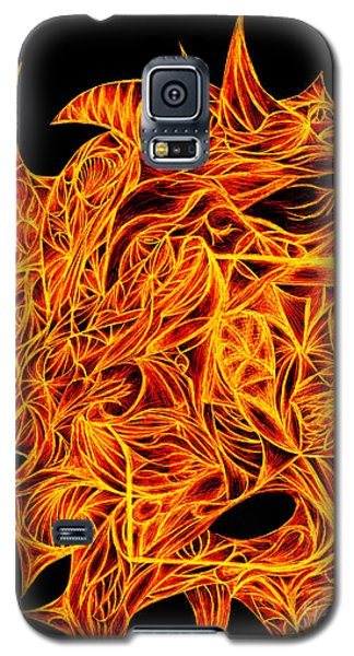 Galaxy S5 Case featuring the drawing Desire Flair by Jamie Lynn