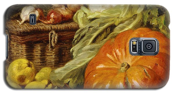 Detail Of A Still Life With A Basket, Pears, Onions, Cauliflowers, Cabbages, Garlic And A Pumpkin Galaxy S5 Case by Eugene Claude