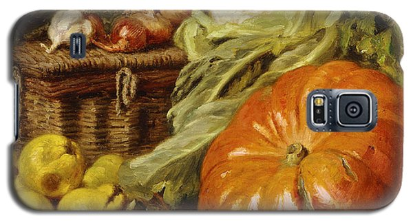 Detail Of A Still Life With A Basket, Pears, Onions, Cauliflowers, Cabbages, Garlic And A Pumpkin Galaxy S5 Case
