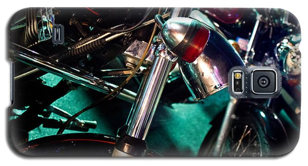 Detail Of Chrome Headlamp On Vintage Style Motorcycle Galaxy S5 Case