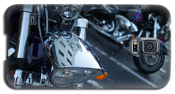 Detail Of Shiny Chrome Headlight On Cruiser Style Motorcycle Galaxy S5 Case