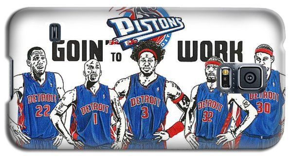 Detroit Goin' To Work Pistons Galaxy S5 Case