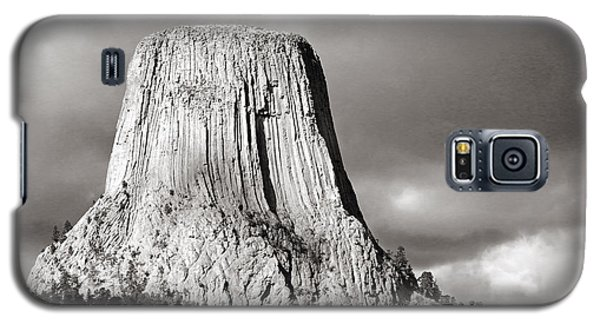 Devil's Tower Black And White Galaxy S5 Case