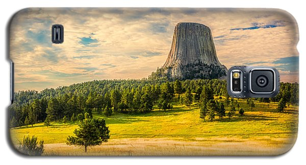 Galaxy S5 Case featuring the photograph Devil's Tower - The Other Side by Rikk Flohr