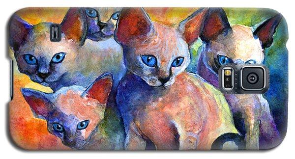 Devon Rex Kitten Cats Galaxy S5 Case by Svetlana Novikova