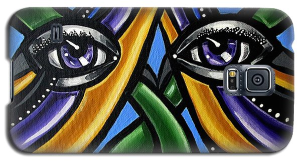 Colorful Eye Art Paintings Abstract Eye Painting Chromatic Artwork Galaxy S5 Case
