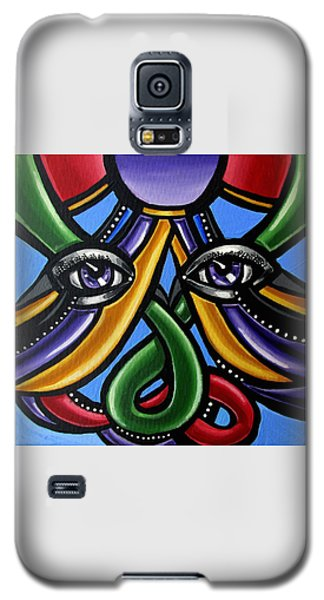Colorful Contemporary Canvas Painting, Eyeball Artwork, Colorful Modern Art                       Galaxy S5 Case