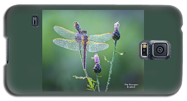 Dew Laden Dragonfly Galaxy S5 Case