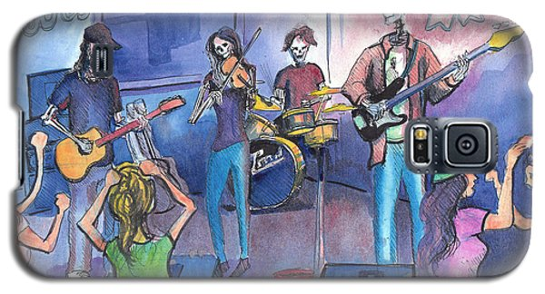 Galaxy S5 Case featuring the painting Dewey Paul Band by David Sockrider