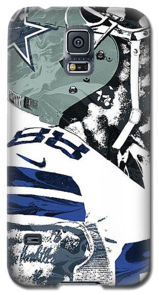 Galaxy S5 Case featuring the mixed media Dez Bryant Dallas Cowboys Pixel Art 4 by Joe Hamilton