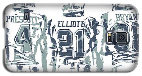 3103d3420d1eb0 Ezekiel Elliott Galaxy S5 Case - Dez Bryant Ezekiel Elliott Dak Prescott  Dallas Cowboys Pixel Art