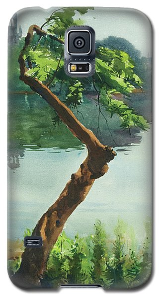 Galaxy S5 Case featuring the painting Dhanmondi Lake 03 by Helal Uddin