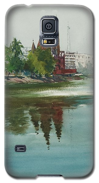 Galaxy S5 Case featuring the painting Dhanmondi Lake 04 by Helal Uddin