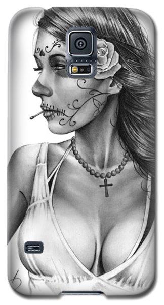 Dia De Los Muertos 1 Galaxy S5 Case