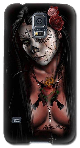 Dia De Los Muertos 3 Galaxy S5 Case
