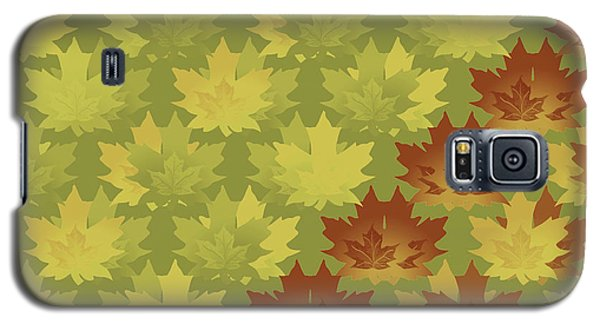 Diagonal Leaf Pattern Galaxy S5 Case by Methune Hively