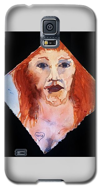 Galaxy S5 Case featuring the painting Diamond Girl by Rand Swift