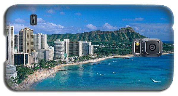 Diamond Head And Waikiki Galaxy S5 Case by William Waterfall - Printscapes