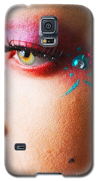 Diamond With Pink Galaxy S5 Case by Robert WK Clark