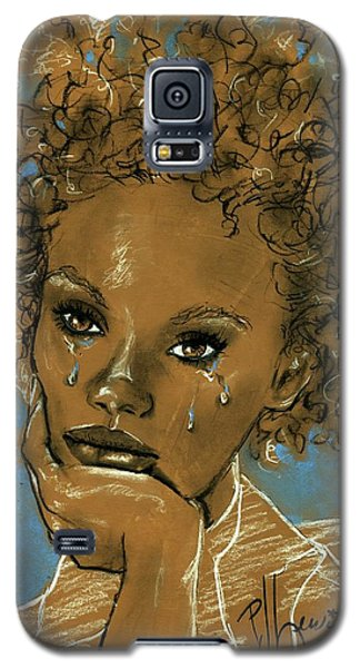 Galaxy S5 Case featuring the drawing Diamond's Daughter by P J Lewis