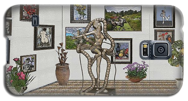 Galaxy S5 Case featuring the mixed media Digital Exhibition _ Modern  Statue 1   Of Dancing Girl by Pemaro