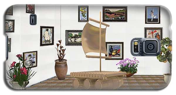 digital exhibition _ Statue raft with sails 4 Galaxy S5 Case