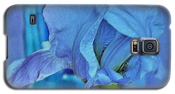 Galaxy S5 Case featuring the mixed media Digital Iris by Marsha Heiken