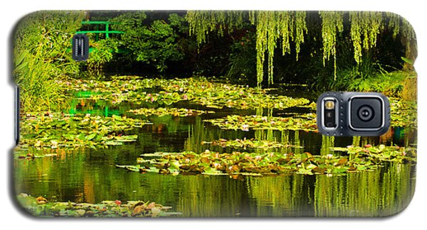Digital Paining Of Monet's Water Garden  Galaxy S5 Case by MaryJane Armstrong