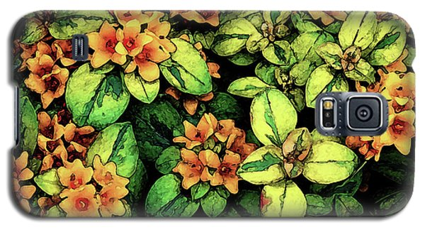 Digital Painting Quilted Garden Flowers 2563 Dp_2 Galaxy S5 Case
