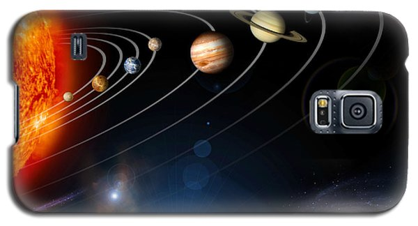 Space Galaxy S5 Case - Digitally Generated Image Of Our Solar by Stocktrek Images