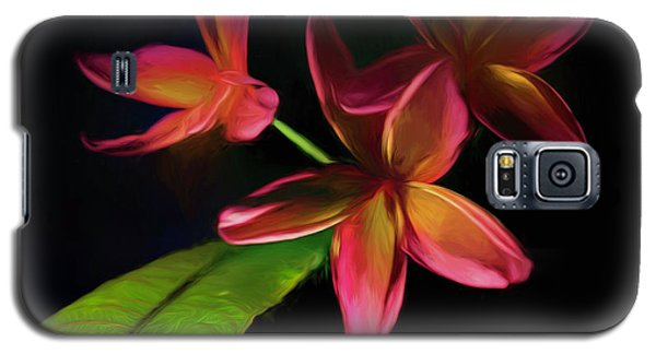 Digitized Sunset Plumerias #2 Galaxy S5 Case